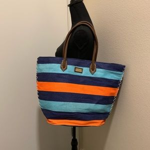 Multi color summer bag with zipper. ♦️ON HOLD♦️